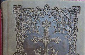 Carte de rugăciuni cu coperţi din piele