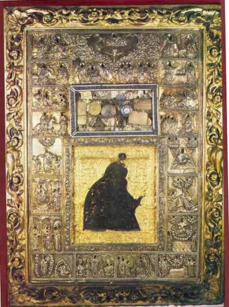 """Icoana facatoare de minuni a Maicii Domnului """"Acatist"""" pictata de Sf. Apostol si Evanghelist Luca"""