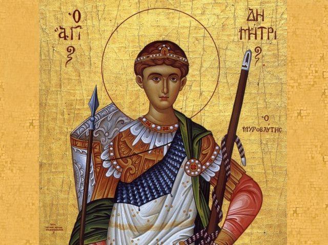 Sf. Mare Mucenic Dimitrie, Izvoratorul de mir
