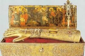 Mana dreapta a Sf. Ioan Botezatorul, cu care a fost botezat Mantuitorul Hristos