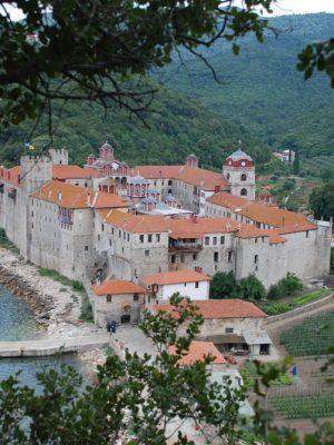 Manastirea Esfigmenu, vedere generală