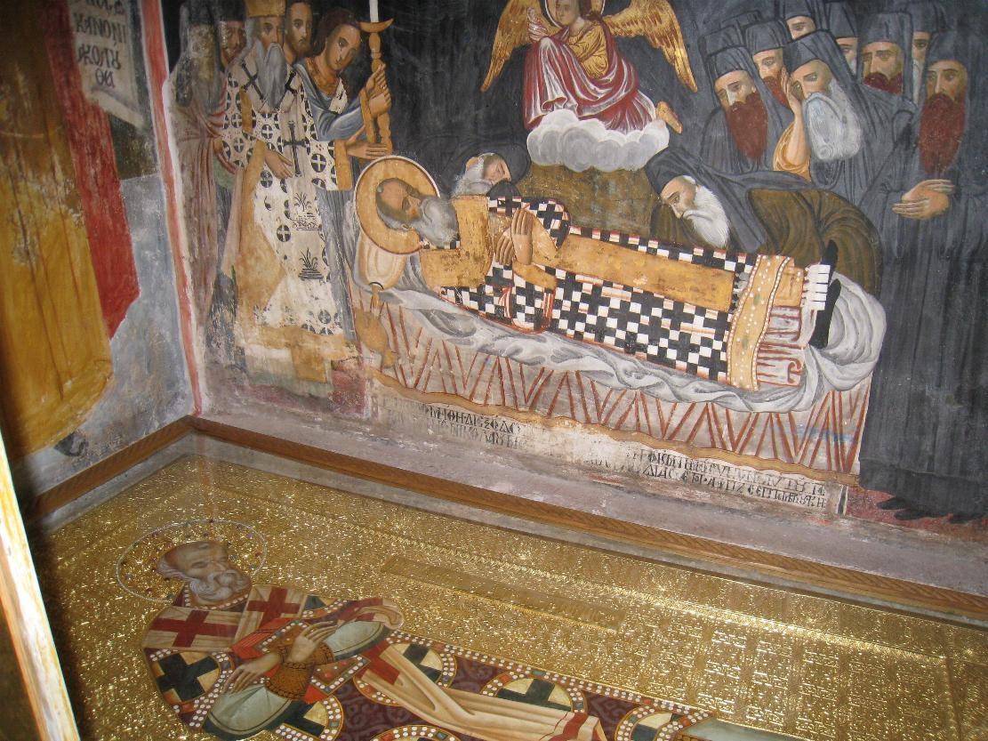 Mormantul Sf. Ierarh Nifon, Patriarhul Constantinopolului din Manastirea Dionisiu