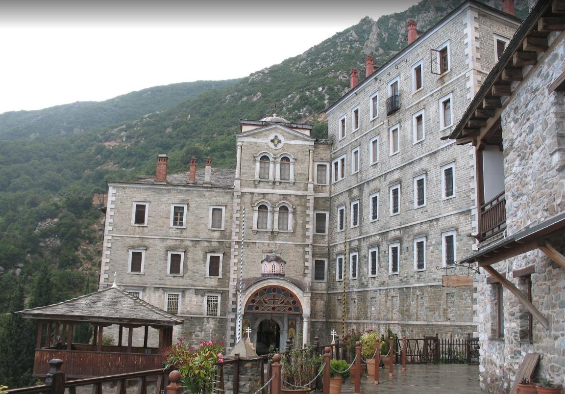 Intrarea in Manastirea Sfantul Pavel