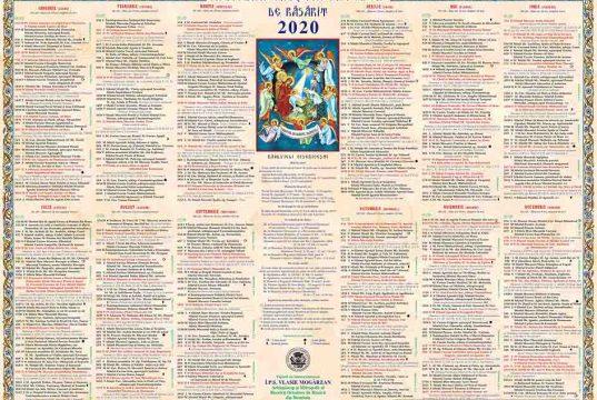 Calendar mare 2020